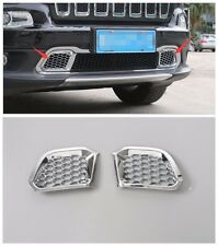 ABS Chrome Front bumper Mesh Grill For Jeep Cherokee 2014 2015 2016 2pcs