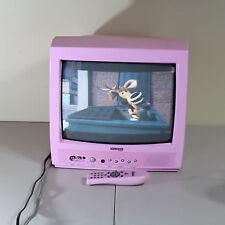 "Pink Diamond Vision 13"" CRT Tube Color TV w/Remote Girl Princess Room DTV3913-28"