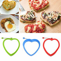 DIY Heart Silicone Omelette Shaper Fried Egg Mold Pancake Poach Egg Ring Su T4Y6