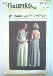 Wrap & Go halter dress pattern 6943 size 12  UNCUT