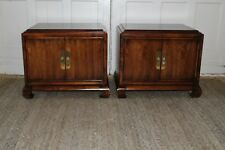 Vintage Pair Night Stands End Tables Asian Chinoiserie