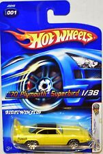 HOT WHEELS 2006 FIRST EDITIONS '70 PLYMOUTH SUPERBIRD #001 YELLOW