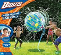 Banzai BEACH BALL Kid Water Fun Play Outdoor Garden Game Giant Splash Sprinkler