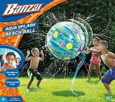 Banzai BEACH BALL Kid Water Fun Play Outdoor Garden Game Giant Splash Sprinkler
