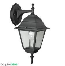 Applique Lanterna a parete da esterno alluminio Nero opaco lampada giardino Baby