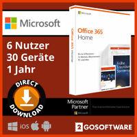 Microsoft Office 365 Home 5 Geräte 6 Nutzer 1 Jahr Lizenz für Windows Mac
