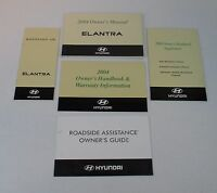 2004 04 Hyundai Elantra Owner's Owners Owner Manual Set Guide