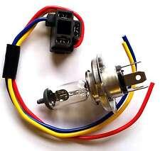 H4 Headlight Car Bulb Holder 3 Prong Pin Includes H4 BULB Heat Shrink Terminals