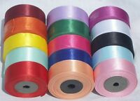 """15 ROLLS of  SATIN RIBBON, 25MM/1"""", 15 nice Colours, High Quality"""