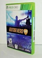NEW Genuine Microsoft XBOX 360 Guitar Hero Live 2 Disc Game
