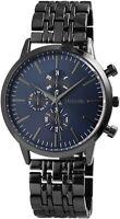Excellanc Herrenuhr Blau Schwarz Analog Chrono-Look Armbanduhr Quarz X2800036002