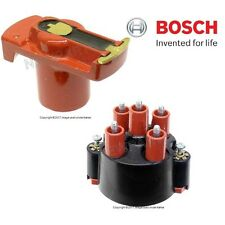 NEW Mercedes W201 190E 2.3 Pair Set od Distributor Cap and Ignition Rotor Bosch