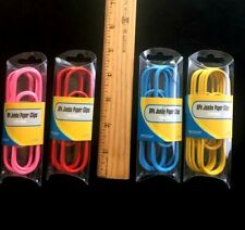 """24 EXTRA LARGE PAPER CLIPS 4"""" Jumbo Arts Crafts School Office Paper Organizer"""