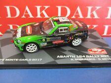 Die cast 1/43 Modellino Auto Fiat 124 Abarth RGT Rally Monte Carlo 2017 Noberasc
