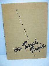 1944 Royal Purple, Kansas State Col of Agriculture & Ap Sci, Manhattan KS Yearbk