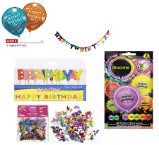 Happy Birthday Set Holzinnsel from Party Balloons & Candles & Scattered Etc