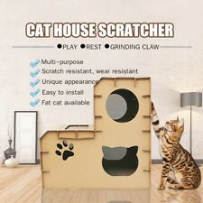 Corrugated Paper Cat House Cave Scratcher Board Cardboard Cat Scratching Toy
