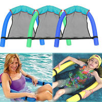 Swimming Inflatable Floating Float Water Hammock Pool Lounge Bed Chair Seats