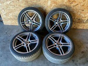 "BMW E90 E92 E93 E82 335IS 18"" STYLE 313 WHEELS RIMS STAGGERED W/ TIRES OEM 84MK"
