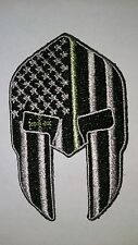 Thin green line spartan patch iron-on veteran military 22 army marine infantry