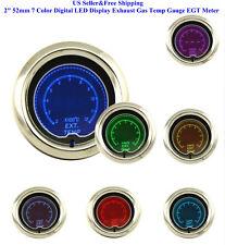 "2"" 52mm 7 Color Digital LED Display Exhaust Gas Temp Gauge EGT Meter Car AUTO"