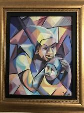 16x20  Haiti Haitian Art Cubist Painting by Carol theard