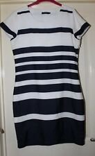 B.Young Navy Striped Dress Size 10