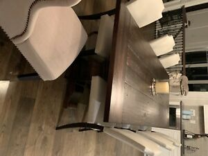 Restoration Hardware dining room table. 4 feet x 8 feet. Expandable to 10 feet.