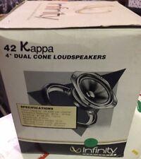 "NOS set of 2 car speakers- Infinity- Kappa 42 -4"" Dual Cone Old School New RARE"