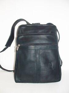 Genuine Leather Backpack, SUPER Light and Soft Unisex color Black Handmade KATZ