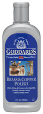 Brass And Copper Polish Cleaner Cleans & Removes Tarnish Goddards 7 oz