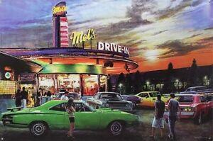 MEL'S DRIVE IN CRUISE NIGHT TIN SIGN