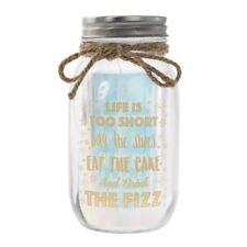 LED Light Up Firefly Glass Fairy Mason Jar Birthday Gift Life Is Too Short