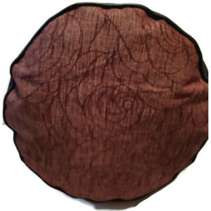 SALE - CHINELLE BROWN HANDMADE POUFFE FLOOR CUSHION BEAN BAG FOOT REST