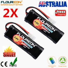 Floureon 2Pcs 7.2V 3500mAh Ni-MH Battery Female-tamiya for RC Car Traxxas Truck