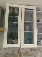 2 Ikea White Hittarp  Door With Glass