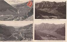 Lot 4 cartes postales anciennes LE MONT-DORE vallée de la dordogne