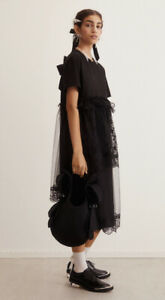 BNWT H&M SIMONE ROCHA SS2021 BLACK TULLE T-SHIRT DRESS SOLD OUT SIZE SMALL