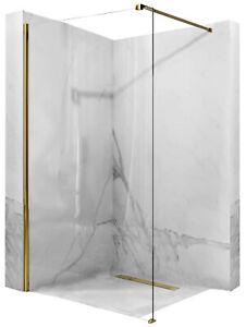 PAROI DE DOUCHE AERO GOLD 80-120 x 195CM PAROI VERRE SECURIT 8MM WALK IN REA