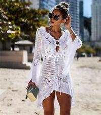 Summer Bikini Cover Up Sarong Dress Swimwear Kaftan Lace Crochet Beach Wear
