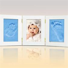 2Pcs Soft Baby Care Air Drying Clay Baby Handprint Footprint Imprint Kit Casting