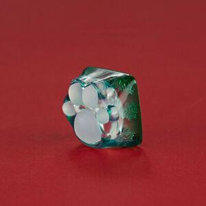 ZOMO Original Design Christmas Transparent Cute Cat Claw Keycap Resin Keycap