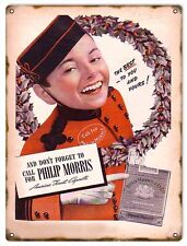 Best To You And Yours And Don't Forget To Call For Philip Morris Cigarettes Sign