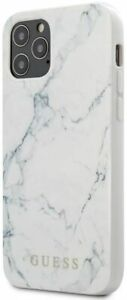 Guess -  - Marble Design Case - White iPhone 12/12 Pro