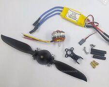 015BK:1 set KV1400 BL Motor,8x6 Folding Prop.& 30A ESC Kit for RC Glider FW:550g