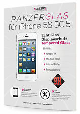 2x Panzerglas für Apple iPhone 5 5S SE Glasfolie 9H Panzer Echt Glas Schutzfolie