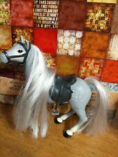 Vintage barbie Horse Grey With Black Saddle