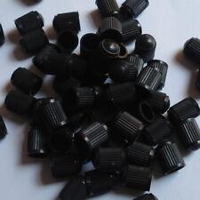 50Pcs Car Auto Truck Wheels Tire Valve Air Dust Cover Stem Caps Black Plastic