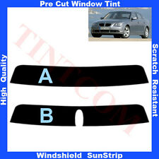 Pre Cut Sunstrip for BMW 5 Series E60 Saloon 4 Doors 2003-2009 Any Shade