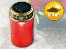 SOLAR-LED-GRABLICHT MIT DÄMMERUNGSSENSOR LED Grablicht Grabkerze - NEU & SOFORT